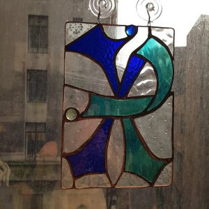 Chi-Rho Stained Glass Panel