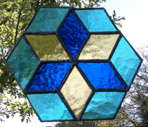 Hexagon or six pointed star pattern