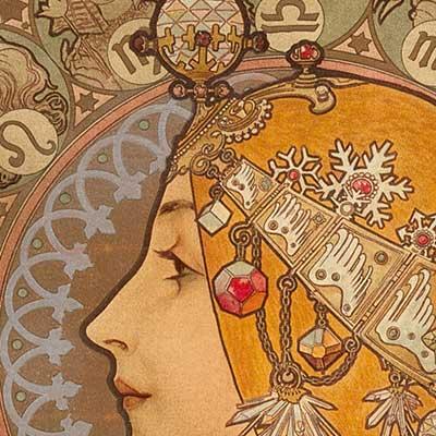 Detail of Mucha's Zodiac