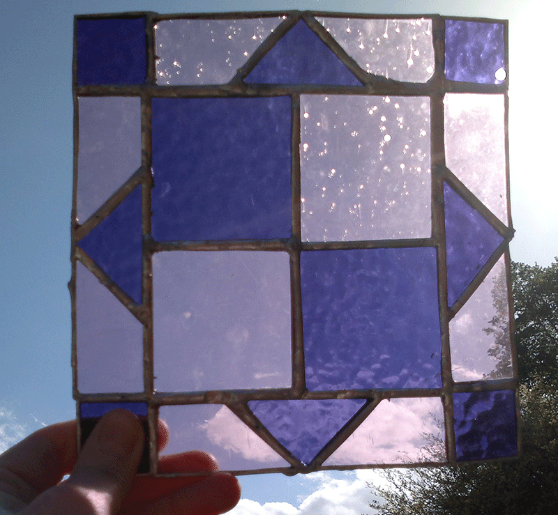 stained glass quilt square